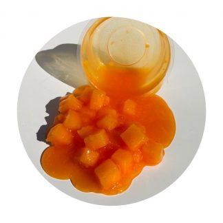 Slime laranjada fresquinha de textura jelly cube slime